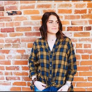 Perfect In Plaid Mustard & Navy Flannel